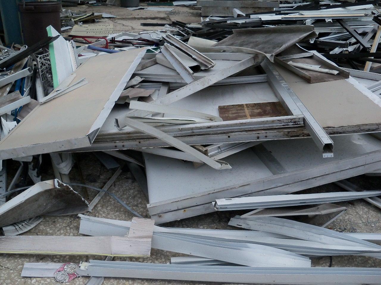 Aluminum siding pile