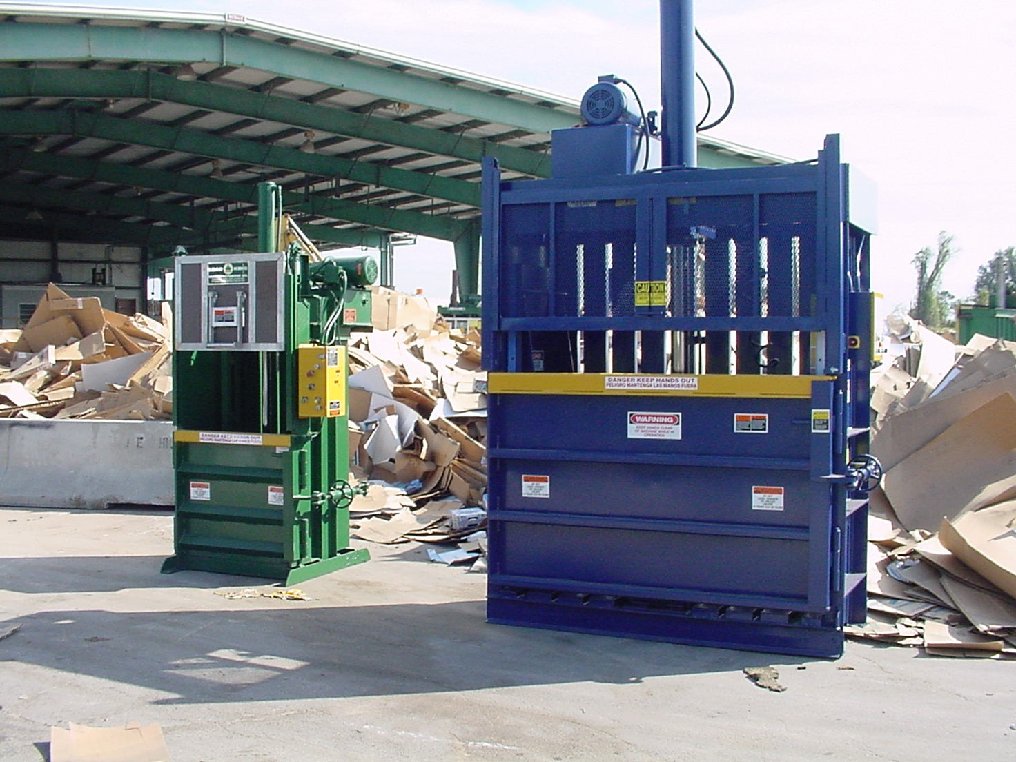 Cardboard and Plastic Balers for sale